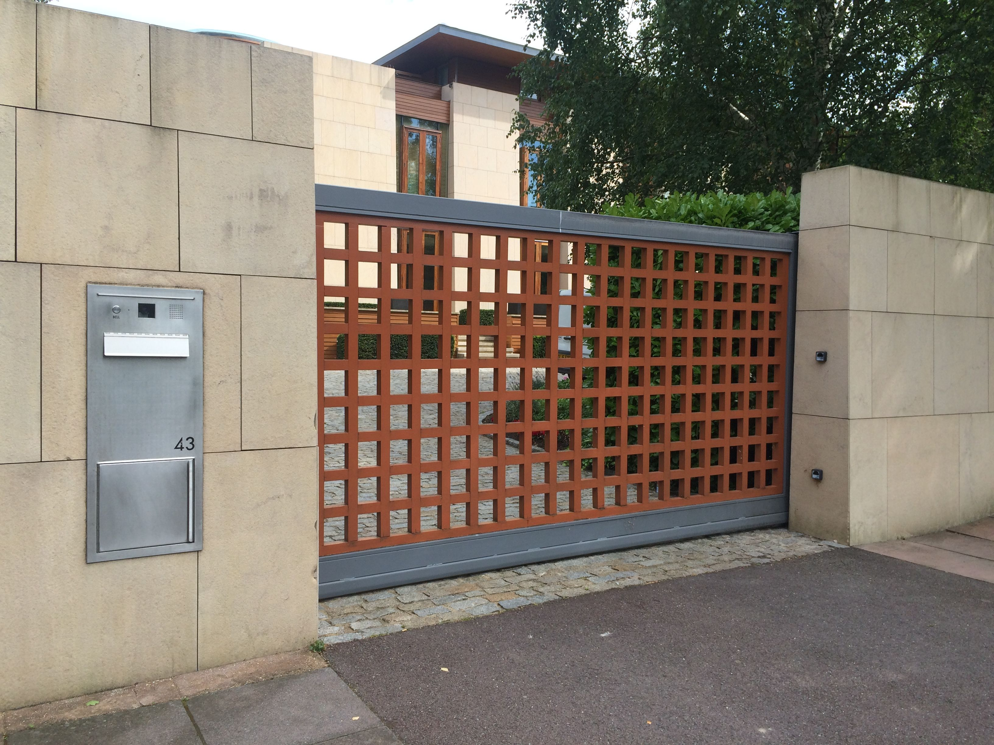 Bespoke stunning metal framed gate from IQ Gates suitable for ...
