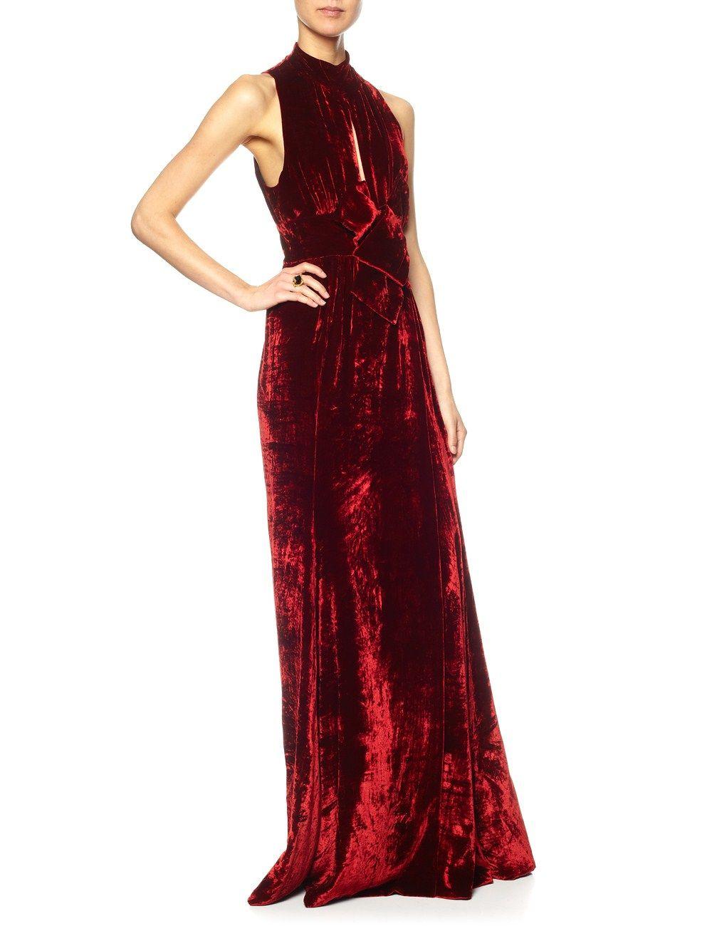 Red Velvet Origami Belt Gown A.W.A.K.E. | Wishlist | Pinterest | Red ...