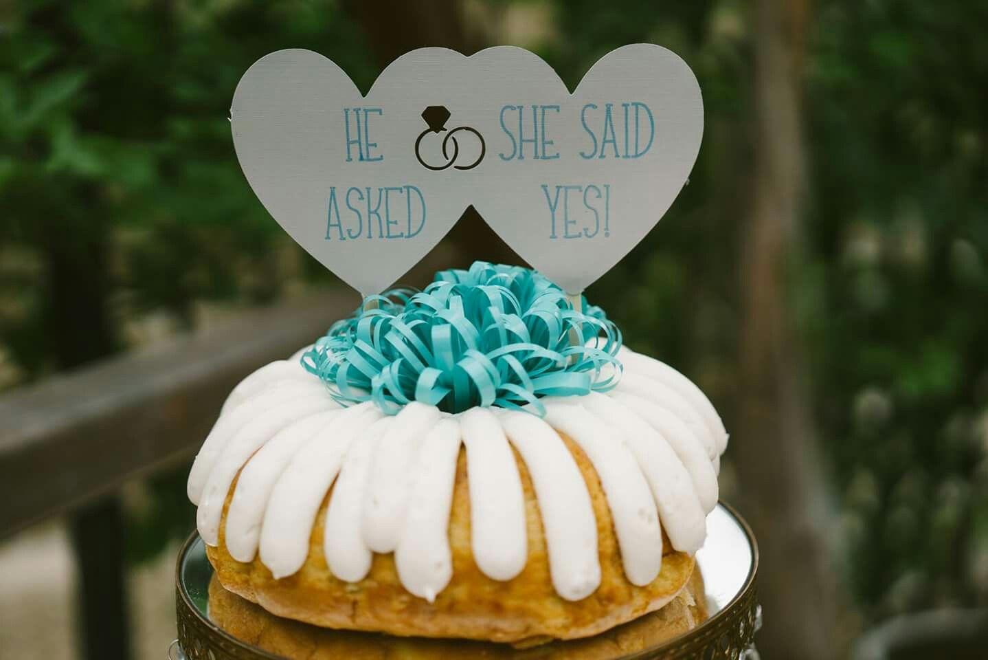 Diy Nothing Bundt Cake Topper Engagement Nothing Bundt Cakes