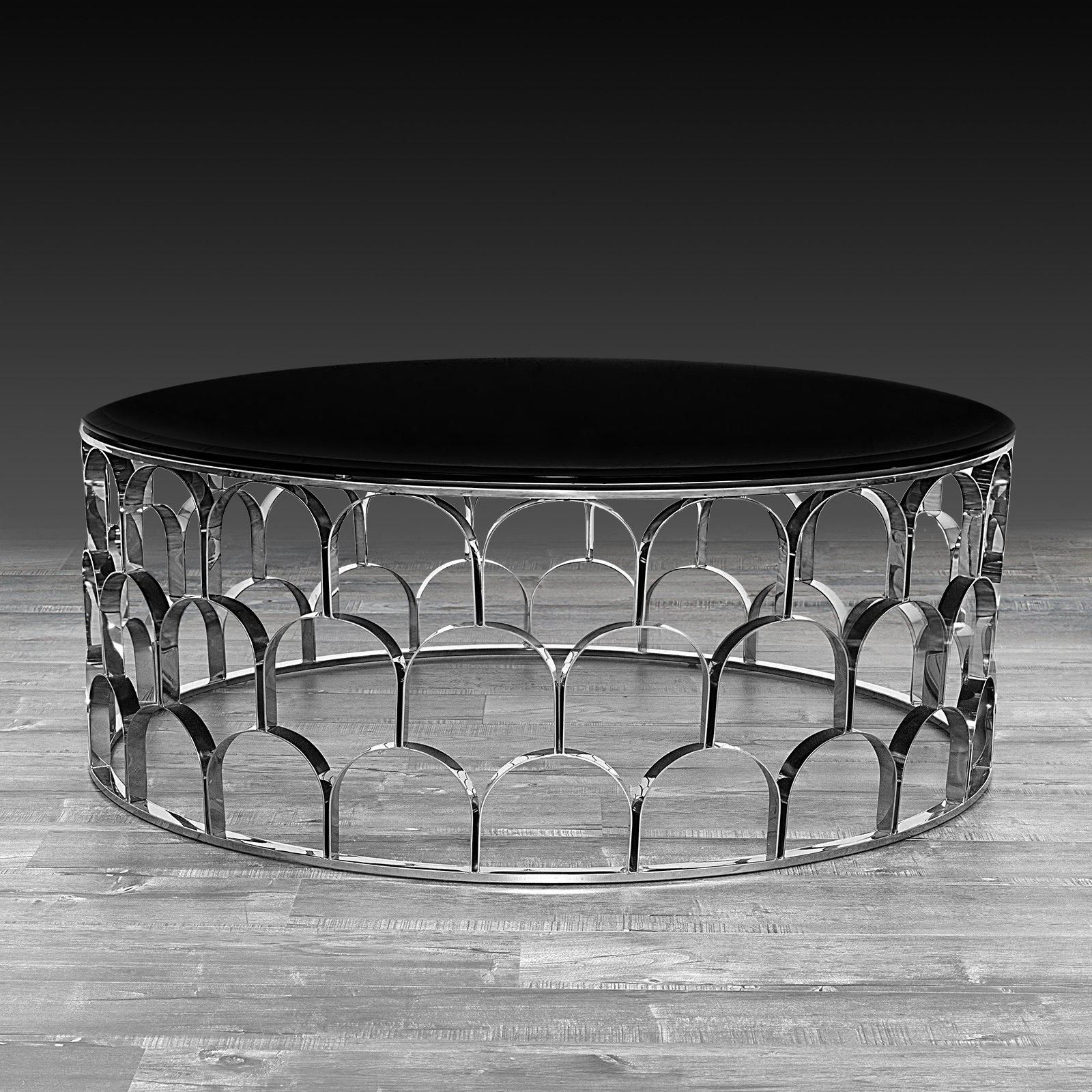Silver Round Coffee Table Set Silver Coffee Table Round Coffee Table Modern Coffee Table [ 1600 x 1600 Pixel ]