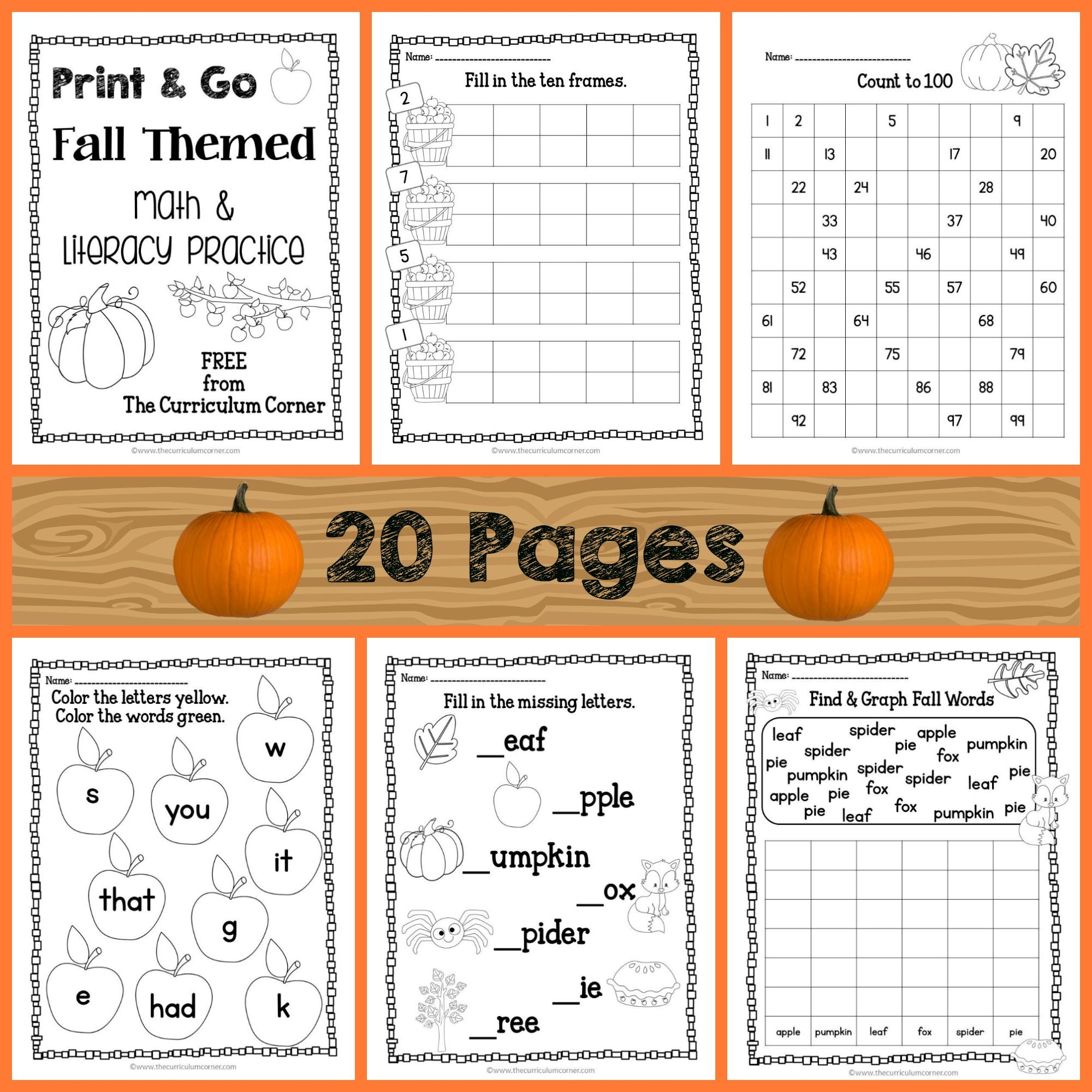 Fall Print Amp Go Pages