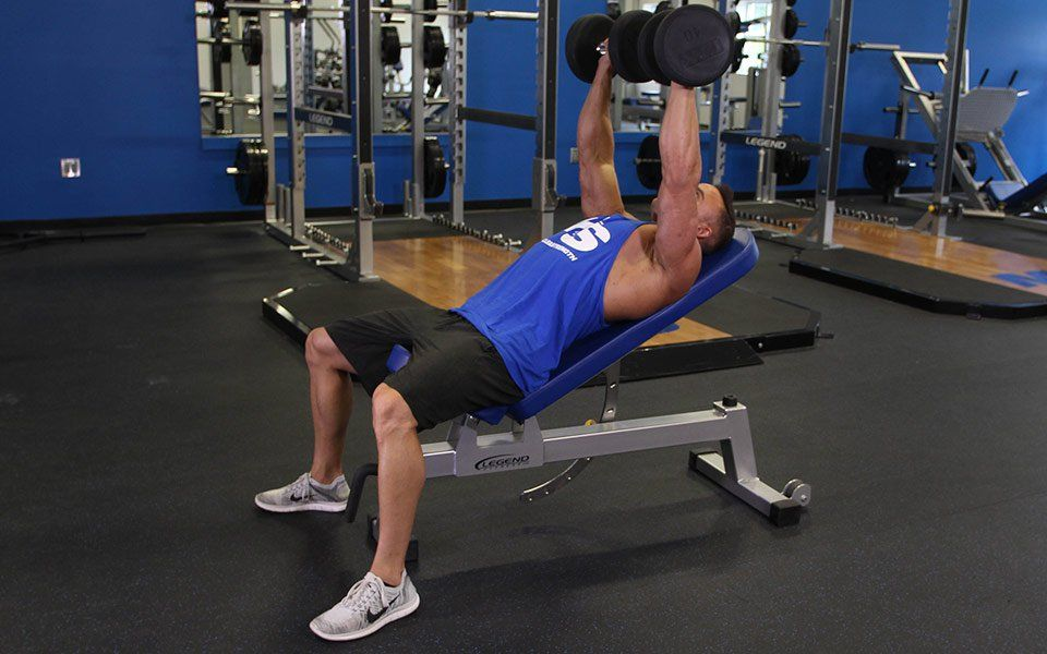 Incline dumbbell bench press video exercise guide tips
