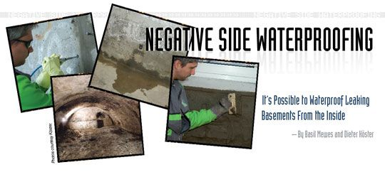 negative side itu0027s possible to waterproof leaking basements from the inside