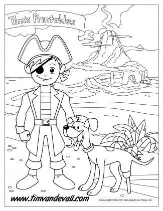 pirate boy coloring page for kids coloring coloringpage