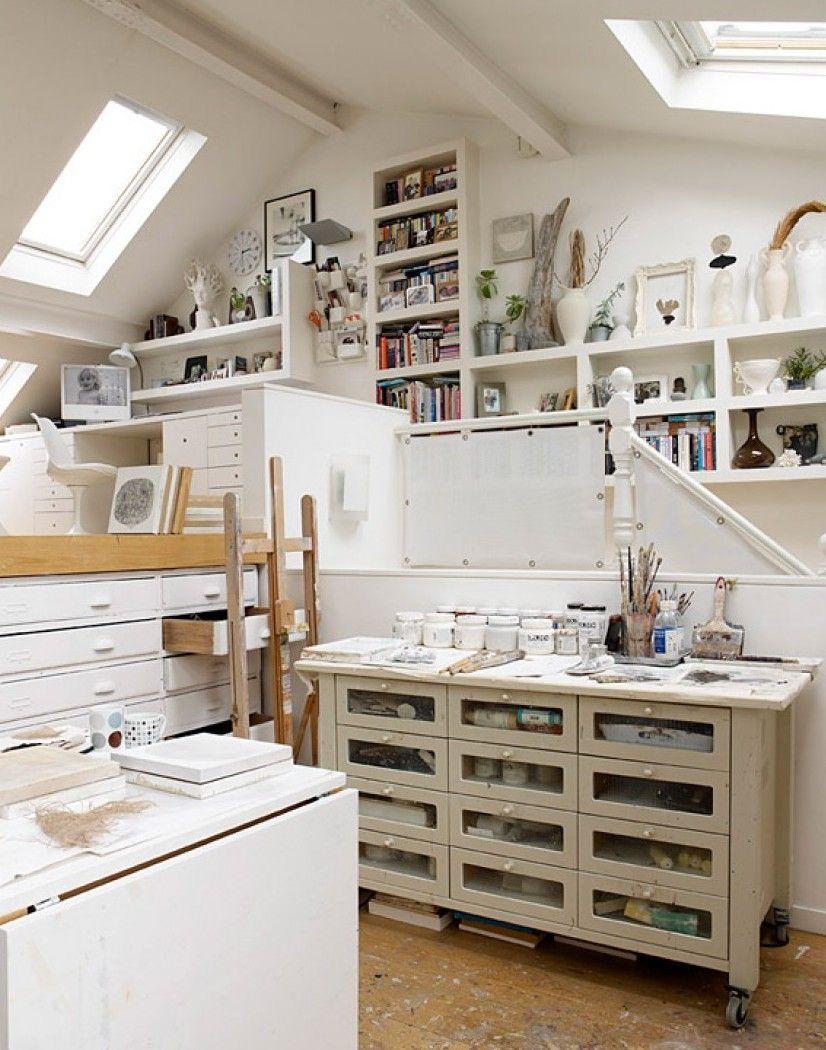Graceful Modern Storage Idea In Wonderful White Home Interior Design ...