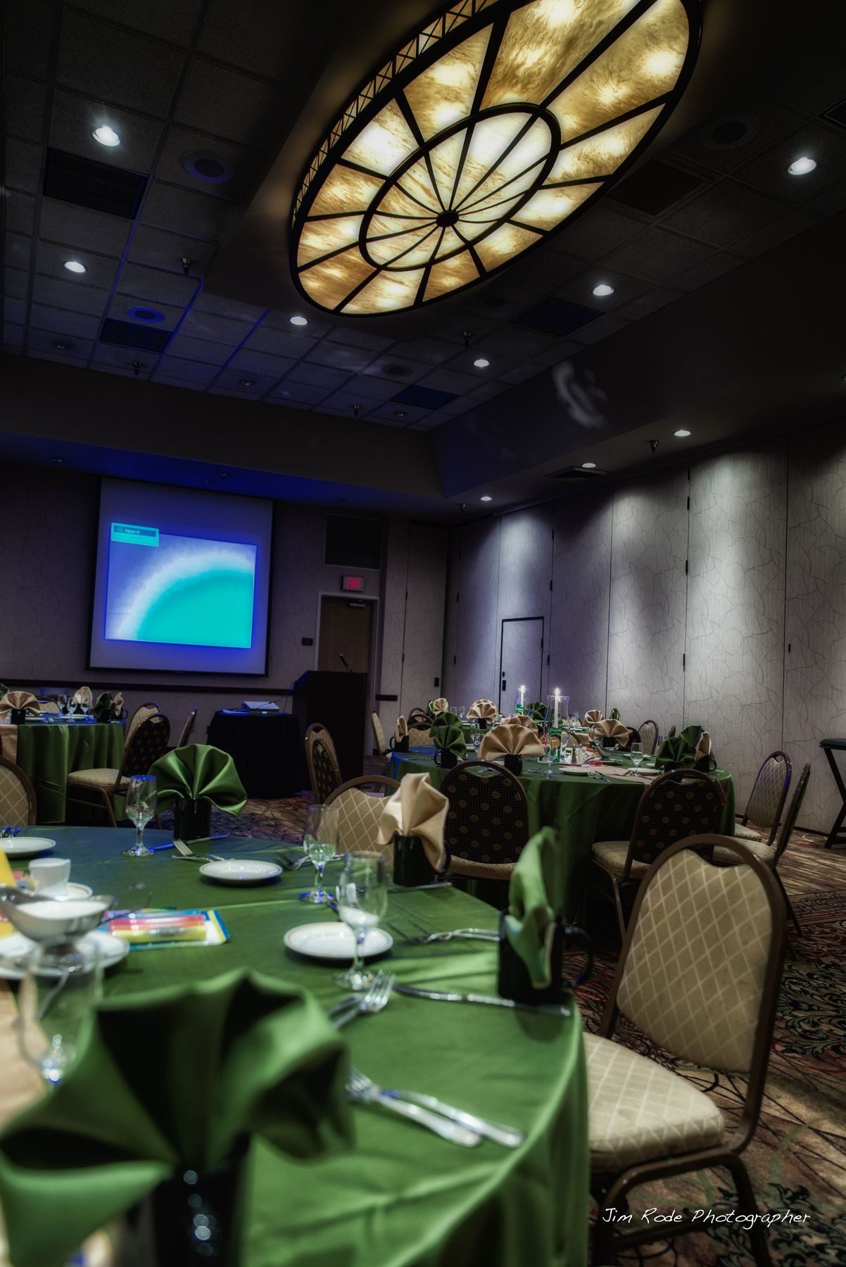 Beautiful Green Table Setting For The Association Of Wedding Professionals