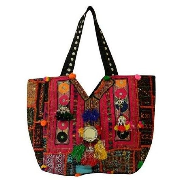 Kc Malhan Boho Embriodery Tote Bag 45 Liked On Polyvore Featuring Bags