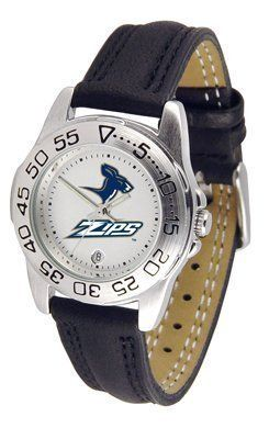 Akron Zips Suntime Ladies Sports Watch w/ Leather Band - NCAA College Athletics by Sun Time/Links Warner. $41.95. The Lady's Sport AnoChrome Watch is a step up in the Lady's Sport series. The anochrome dial option increases the visual impact with a stunning radial reflection similar to that of the shiny underside of a music CD. A date calendar plus a rotating bezel/timer circles the scratch resistant crystal. Sport your team's bold, colorful, high quality logo with pride.