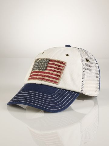 American Flag Rugged Cap - Polo Ralph Lauren Hats   Scarves - RalphLauren .com faebe55bb7a