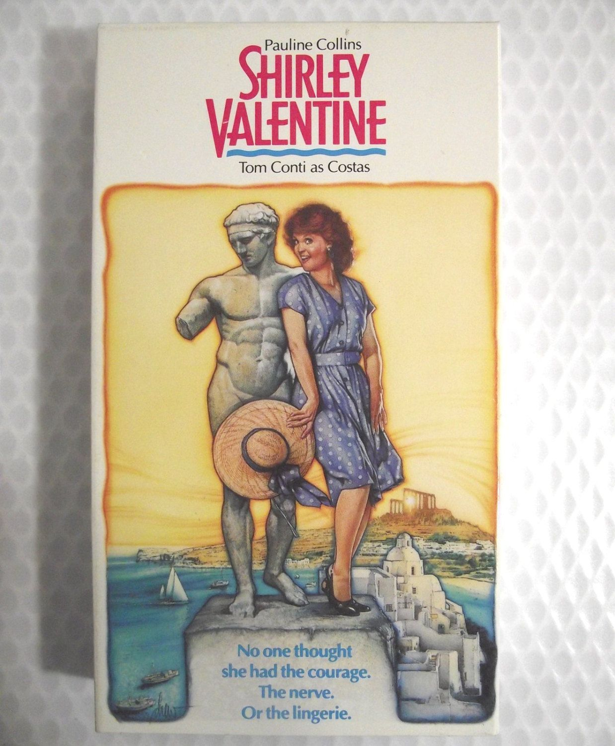 Vhs Shirley Valentine 1990 Video Movie Romantic Comedy Pauline Collins Tom Conti Costas Greece Mediterranean Aegean Sea Beaches Love Ntsc R Shirley Valentine Movies Tom Conti