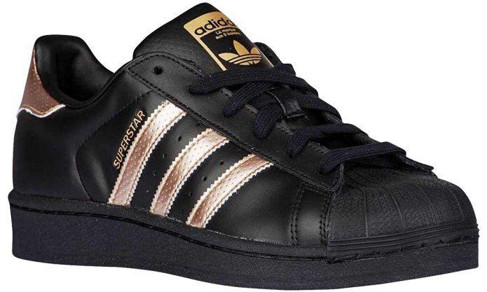 Adidas Superstar Metallics Black Noir Copper Cuivre Rose