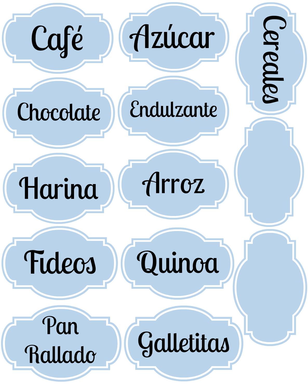 Imprimibles para organizar la cocina | Imprimibles, Cocinas y ...