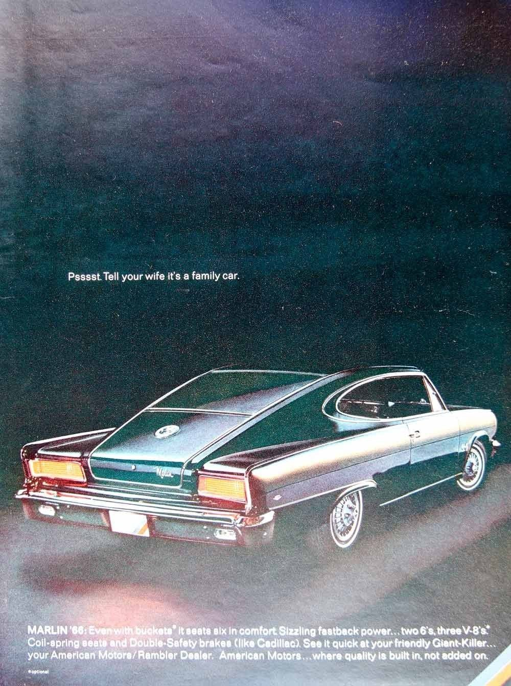 1966 AMC Rambler Marlin 2-door fastback. | Old Rides of the Past ...