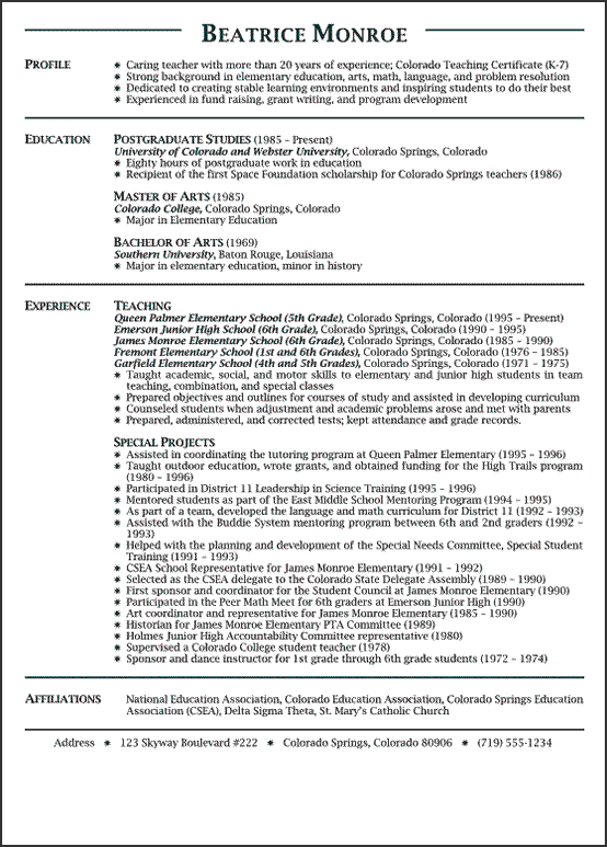 Math Teacher Resume Enchanting Teaching Resume Example  Resume  Pinterest  Teaching Resume .