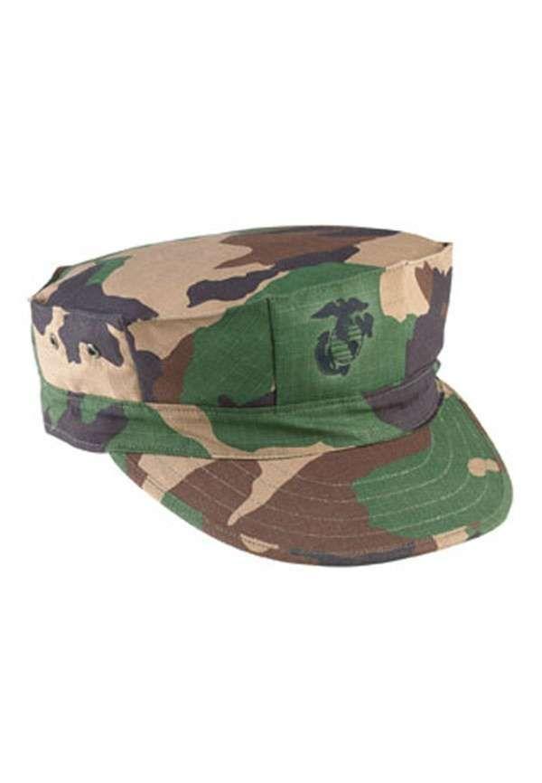 24ee13c440763 Woodland Camo Rip Stop 2 Ply Marine Corps Fatigue Cap