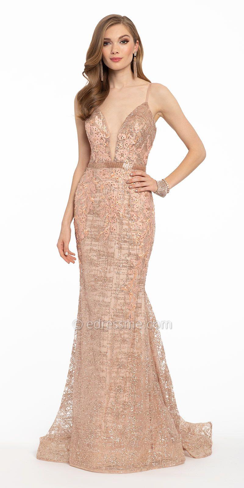 Plunging Glitter Mermaid Dress Homecoming Dresses Long Dresses Mermaid Dress [ 1600 x 800 Pixel ]