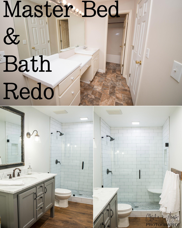A Full Diy Master Bathroom Renovation By Charlie And Morgan Photography Bed Bath Redo
