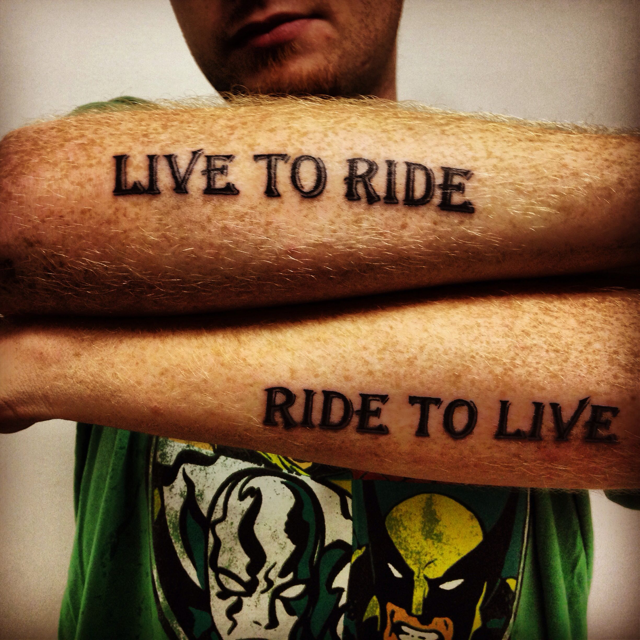 Live To Ride Ride To Live Tattoo Done By Dan Rogers Ink Tattoos