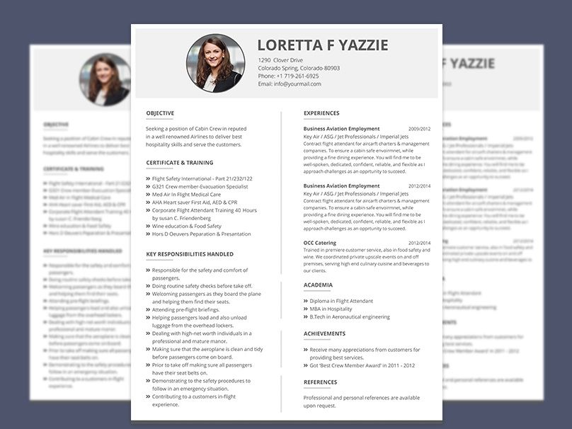 Resume Format For Cabin Crew Freshers Graphicslot On Dribbble Free Resume Template Word Cv Template Cabin Crew