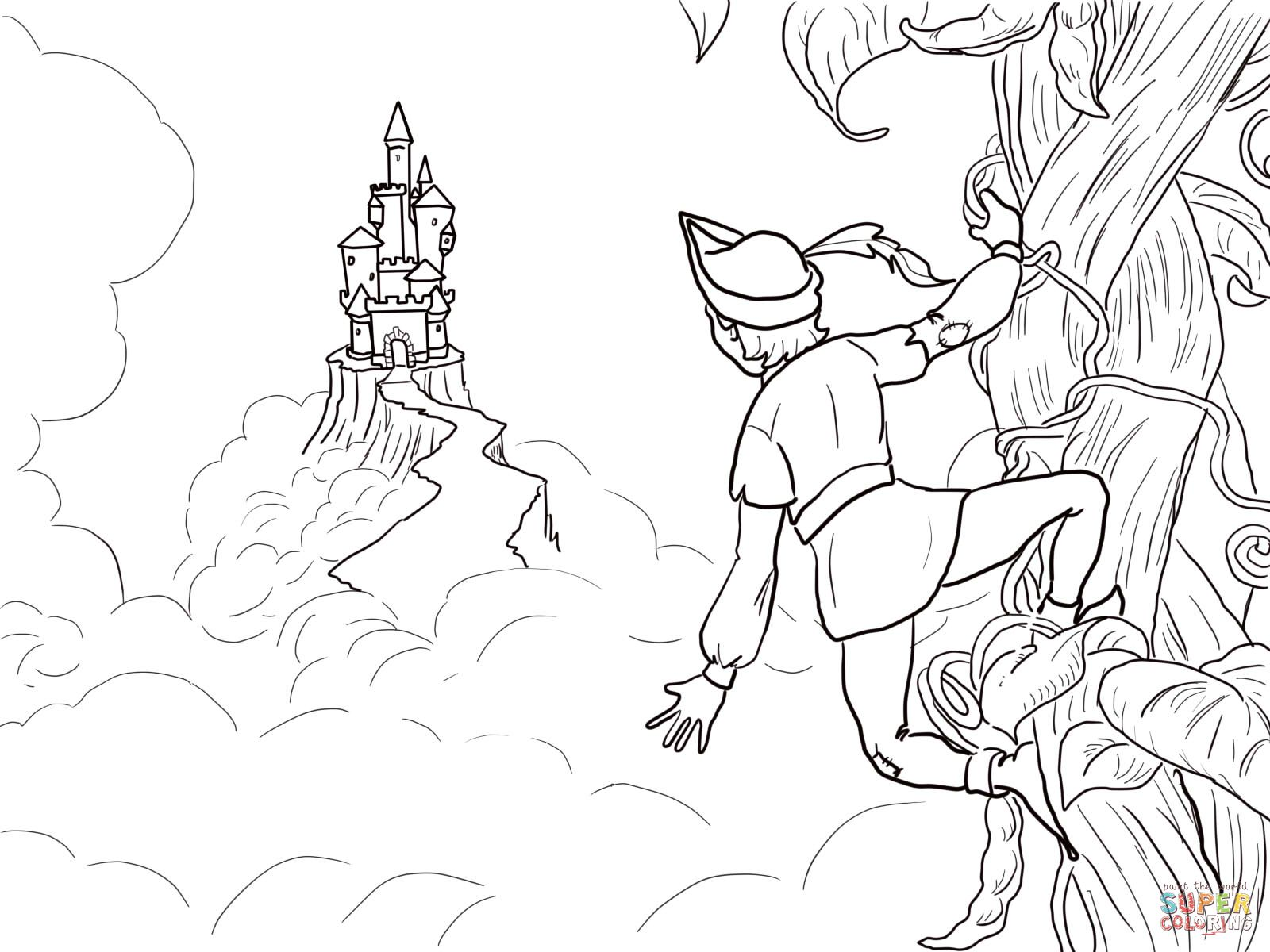 Free coloring pages for jack and the beanstalk - Jack And The Beanstalk Castle Coloring Page From Jack And The Beanstalk Category Select From 24661 Printable Crafts Of Cartoons Nature Animals