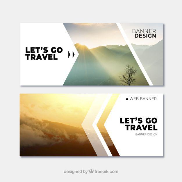 descarga gratis vectores de banners de viaje con destino