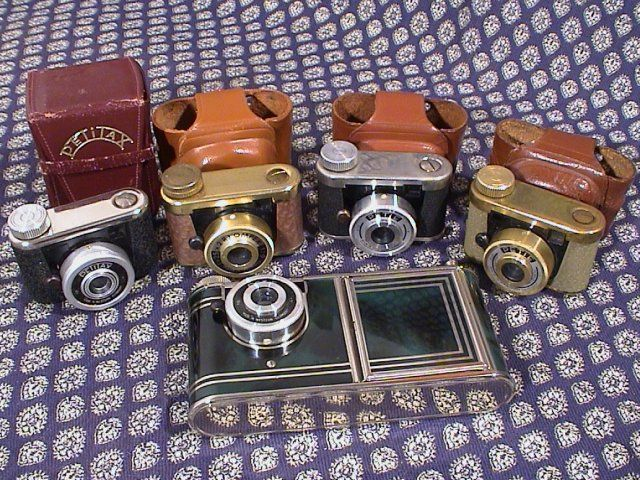 Kunik Petie and Tux 16mm Subminiature cameras collection