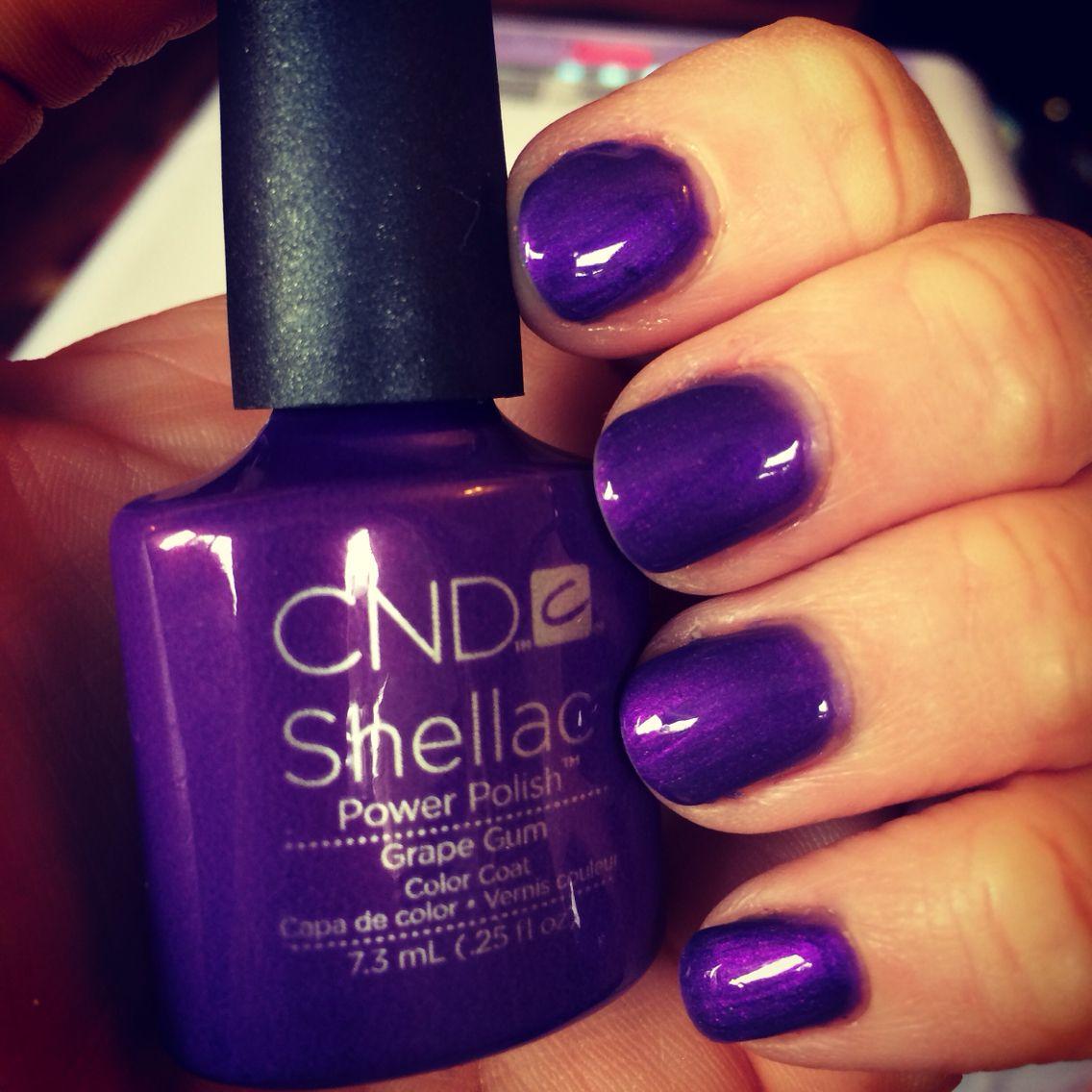 Cnd Shellac Grape Gum Nails Shellac Nails Cnd Shellac Nails