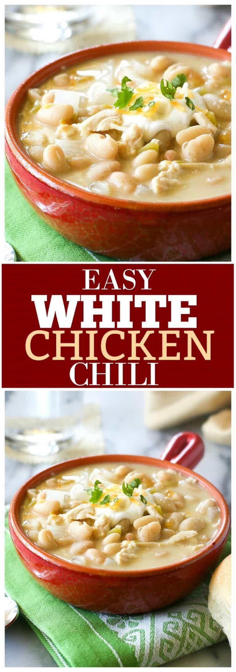 White Chicken Chili Recipe The Girl Who Ate Everything Recipe White Chili Chicken Recipe Recipes Chicken Chili Recipe