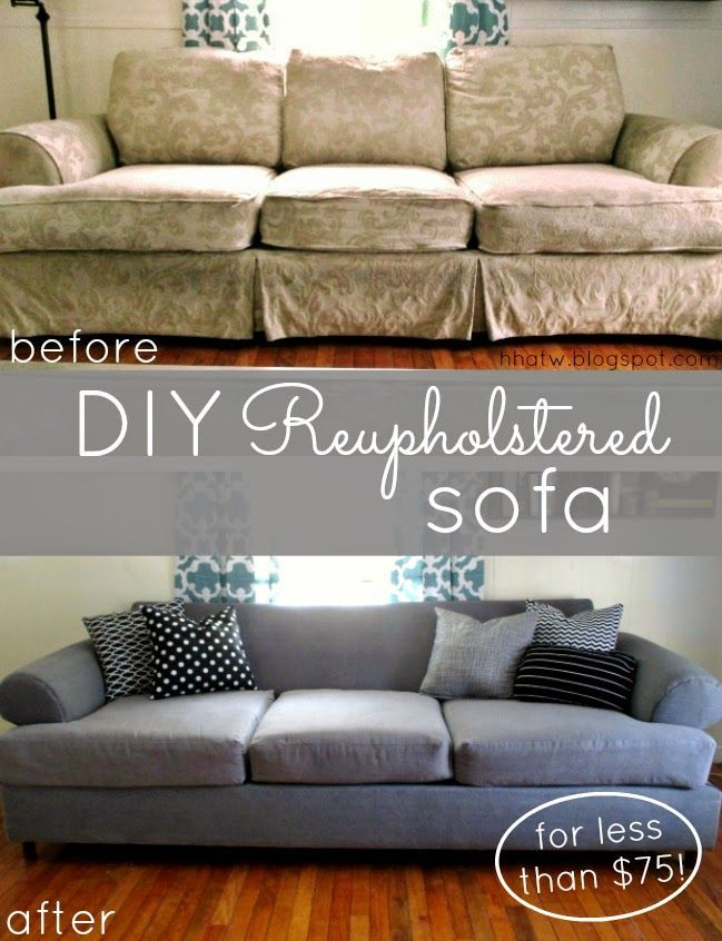 Diy Couch Reupholster With A Painter S Drop Cloth Part 1 The Frame
