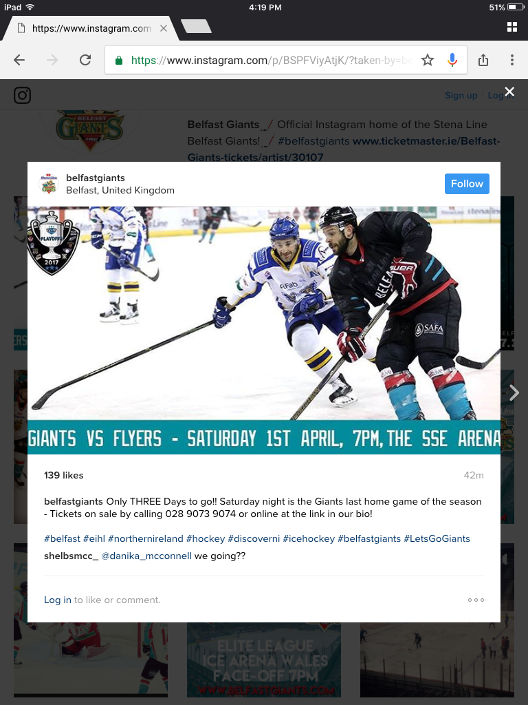 Pin By Hannah Vance On Off On Belfast Giants With Images