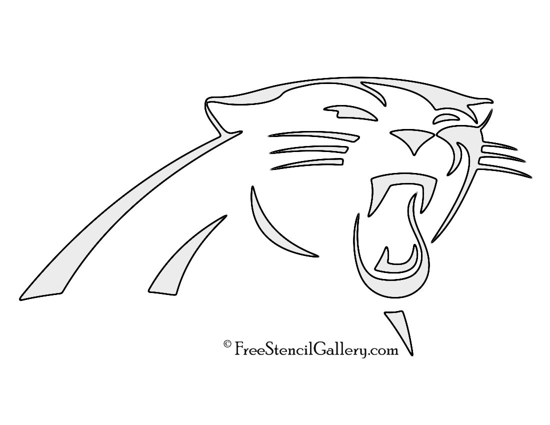 Nfl Carolina Panthers Stencil Free Stencil Gallery Carolina Panthers Logo Carolina Panthers Logo Art Panther Logo