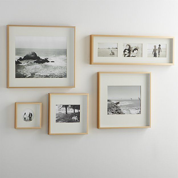 Brushed Brass Picture Frames Crate And Barrel Frames On Wall