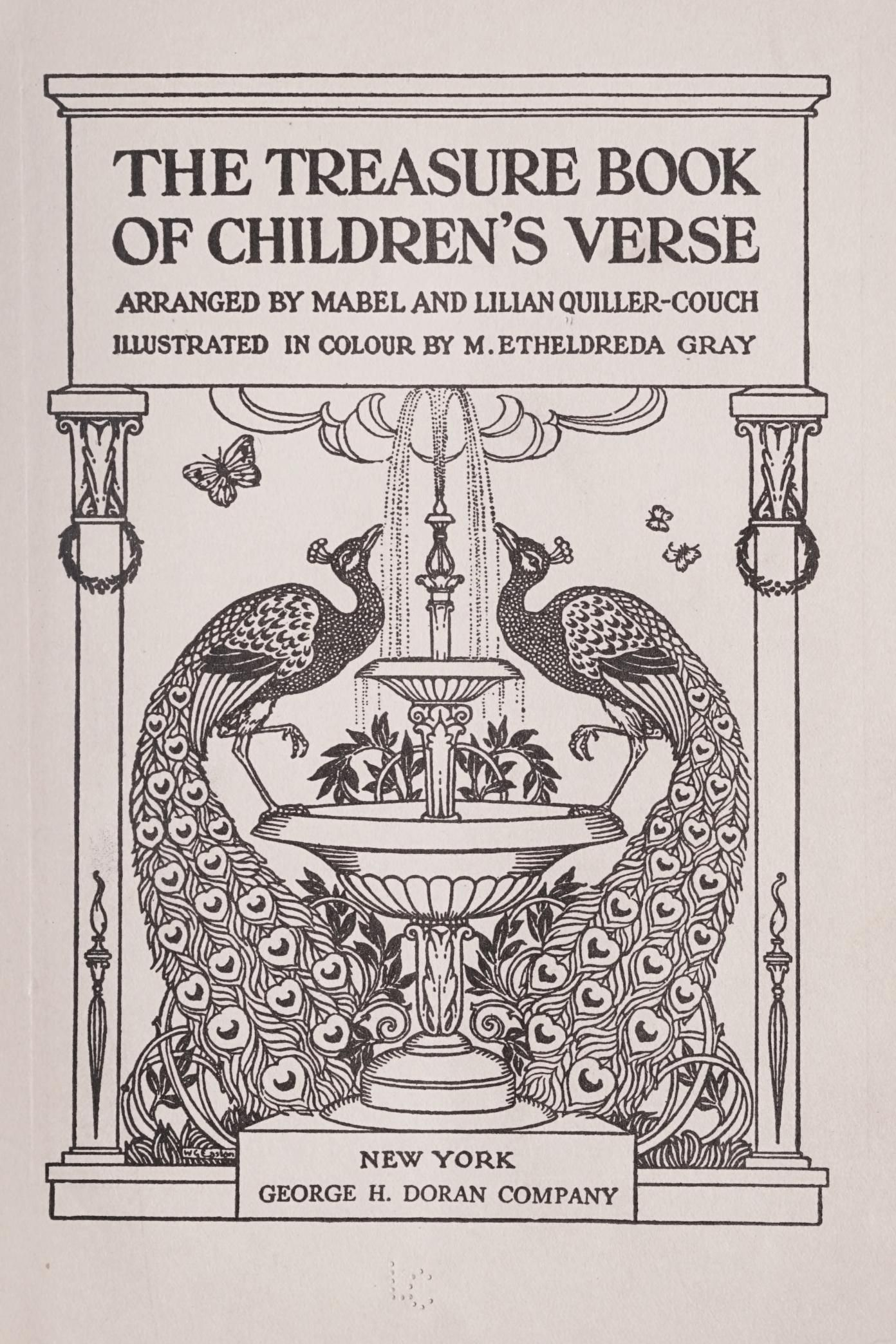 The treasure book of children's verse, QuillerCouch