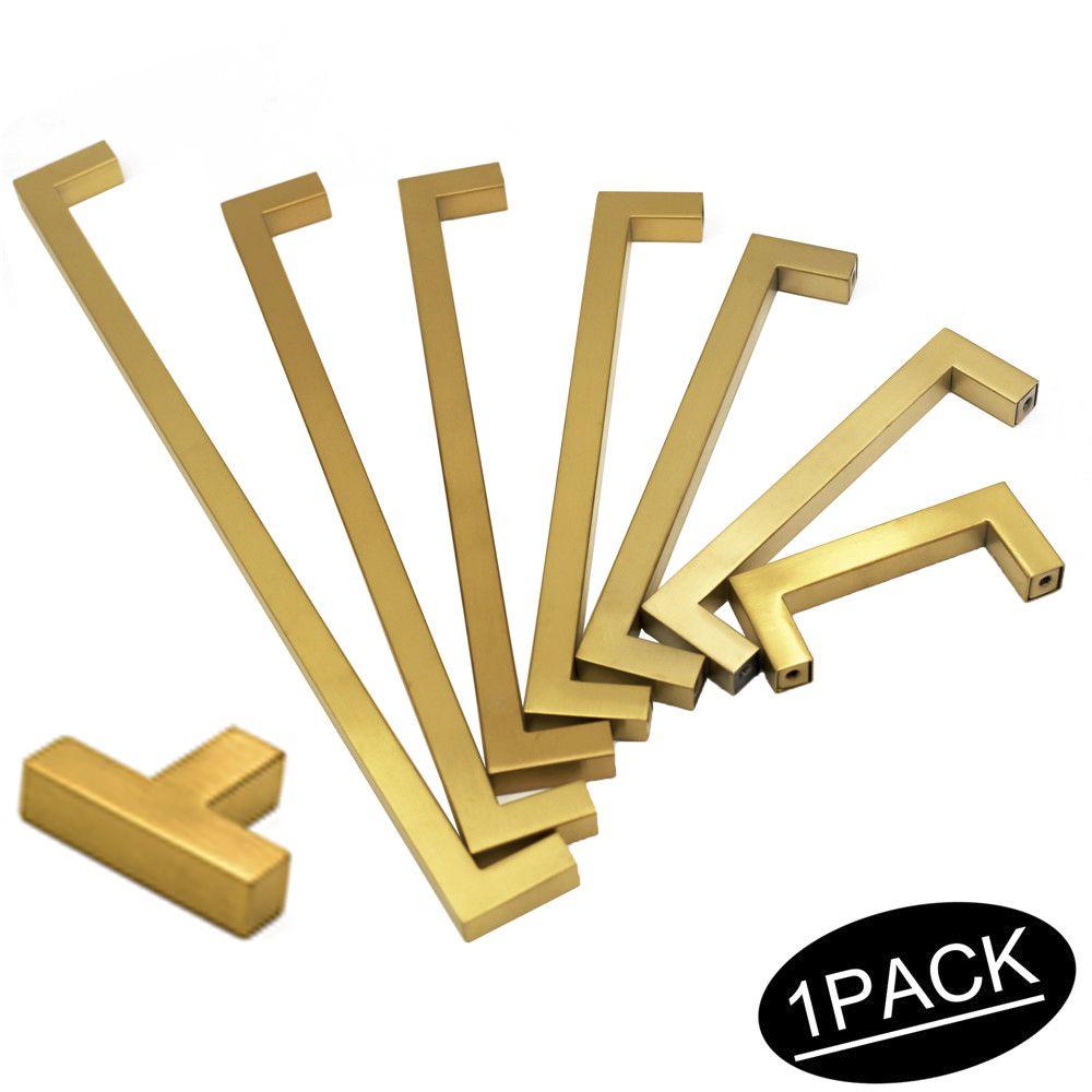 Goedkope Gold Kast Knoppen Handvatten Vierkante Lade Trekt