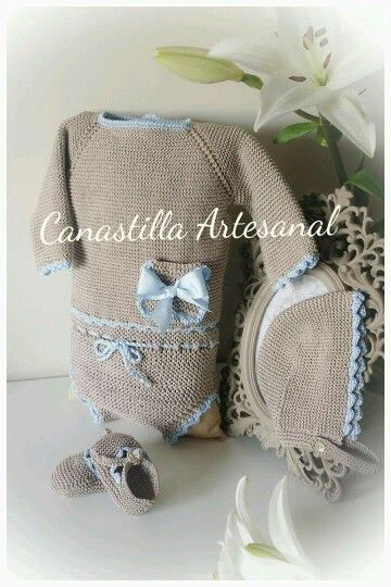 Canastilla artesanal chambritas pinterest canastilla - Canastilla artesanal bebe ...
