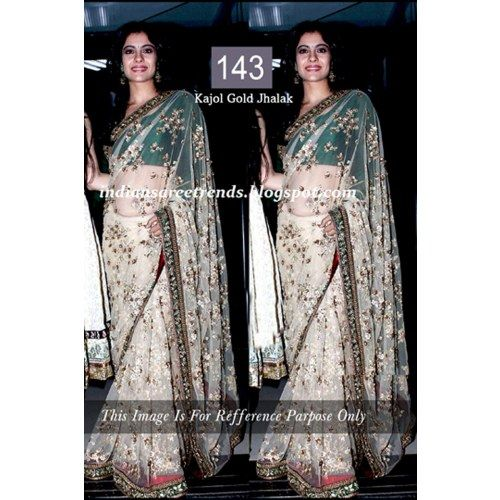 Wedding White Sarees Online: STYLISH BOLLYWOOD DESIGNER SAREE 143