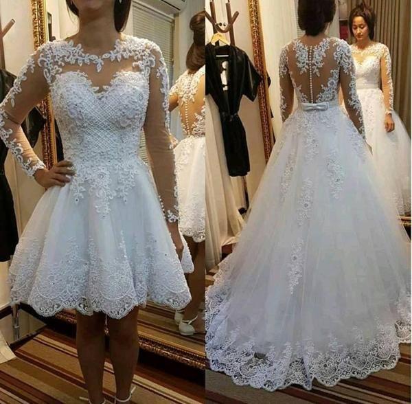 wedding dresses 2 in 1