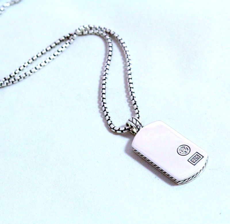 great buy on a designer dog tag from david yurman sterling silver