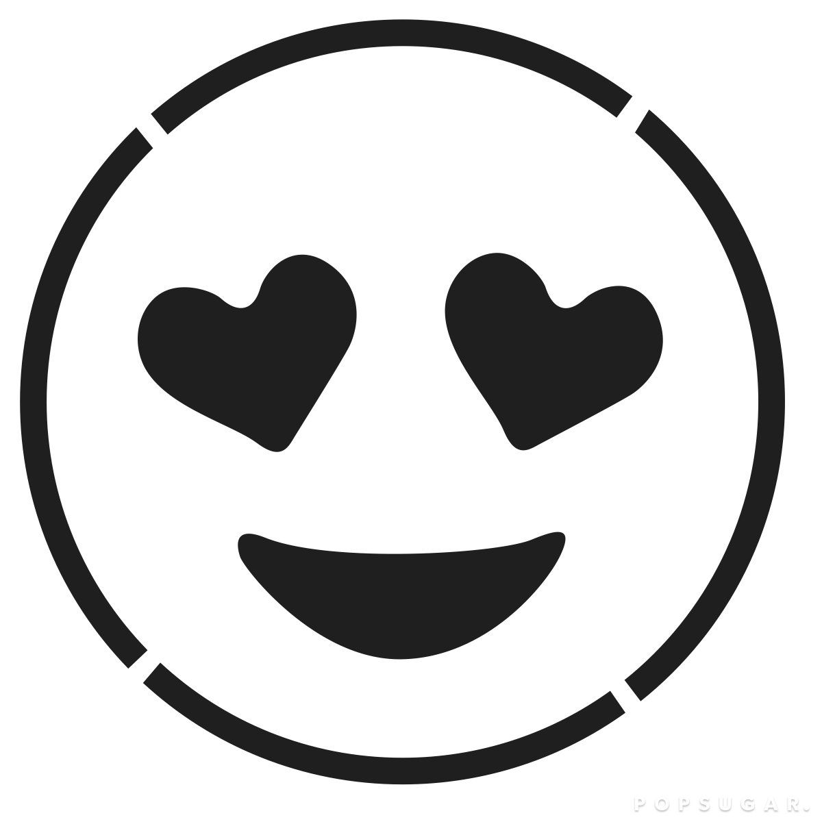Smiling Face With Heart Shaped Eyes Emoji Coloring Pages