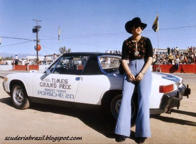 914 pace car for IROC / CAN AM weekend Riverside 1973