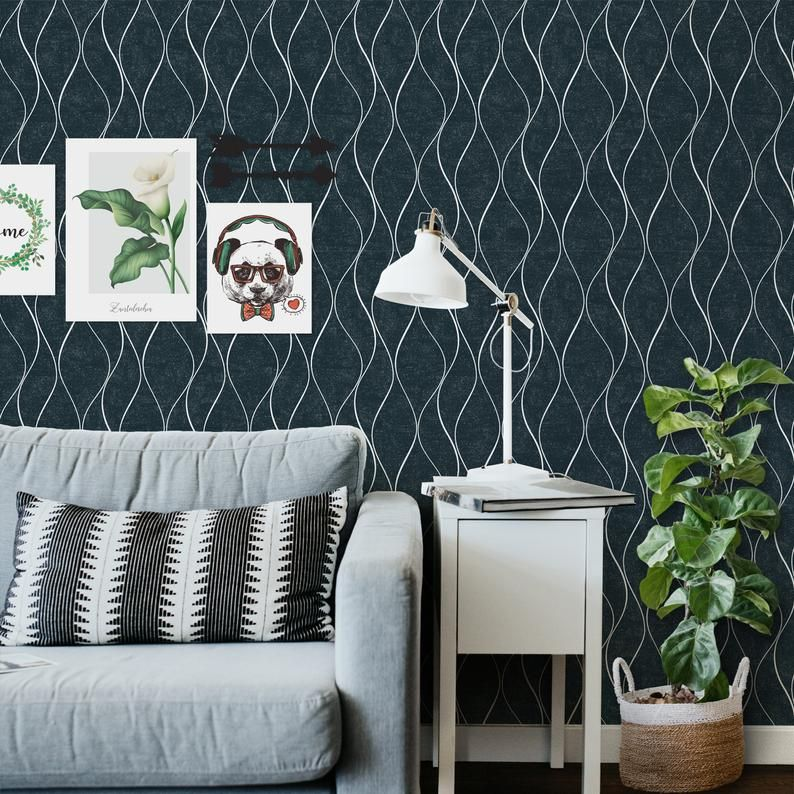 Sussexhome Non Woven Removable Wallpaper Waterproof Etsy Home Decor Removable Wallpaper How To Install Wallpaper