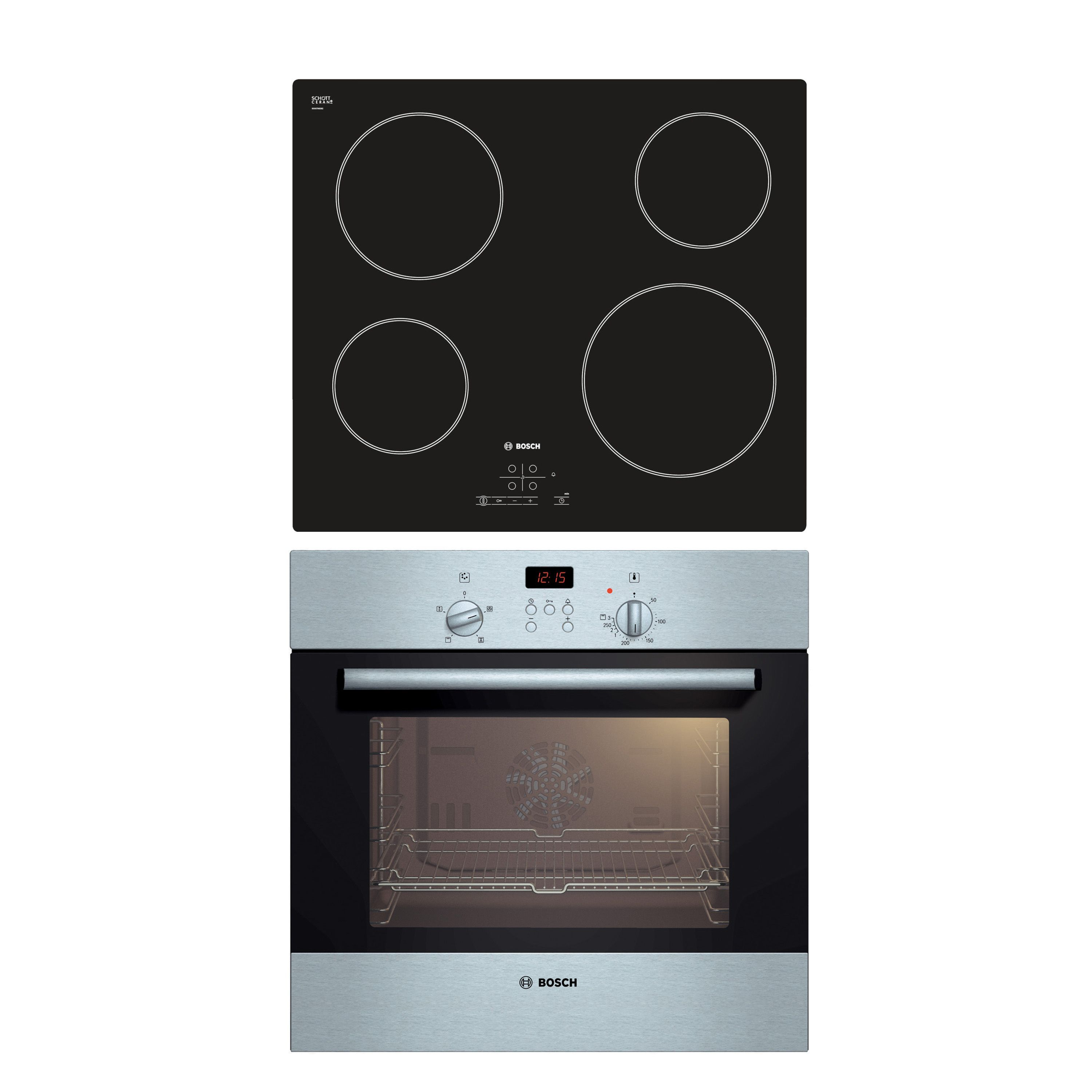 Single Fan Oven Part - 32: Bosch U0026 Black Single Fan Oven U0026 Ceramic Hob Pack - Bu0026Q For All Your Home  And Garden Supplies And Advice On All The Latest DIY Trends