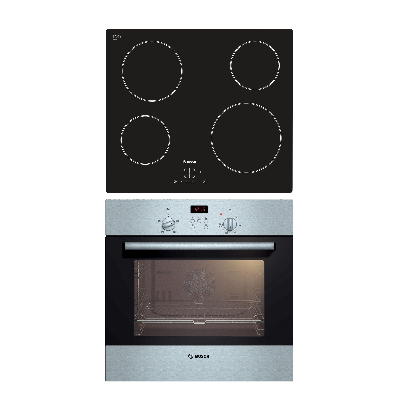 Bosch HBN331E1B & PKE611B17E Black Single Fan Oven & Ceramic Hob ...