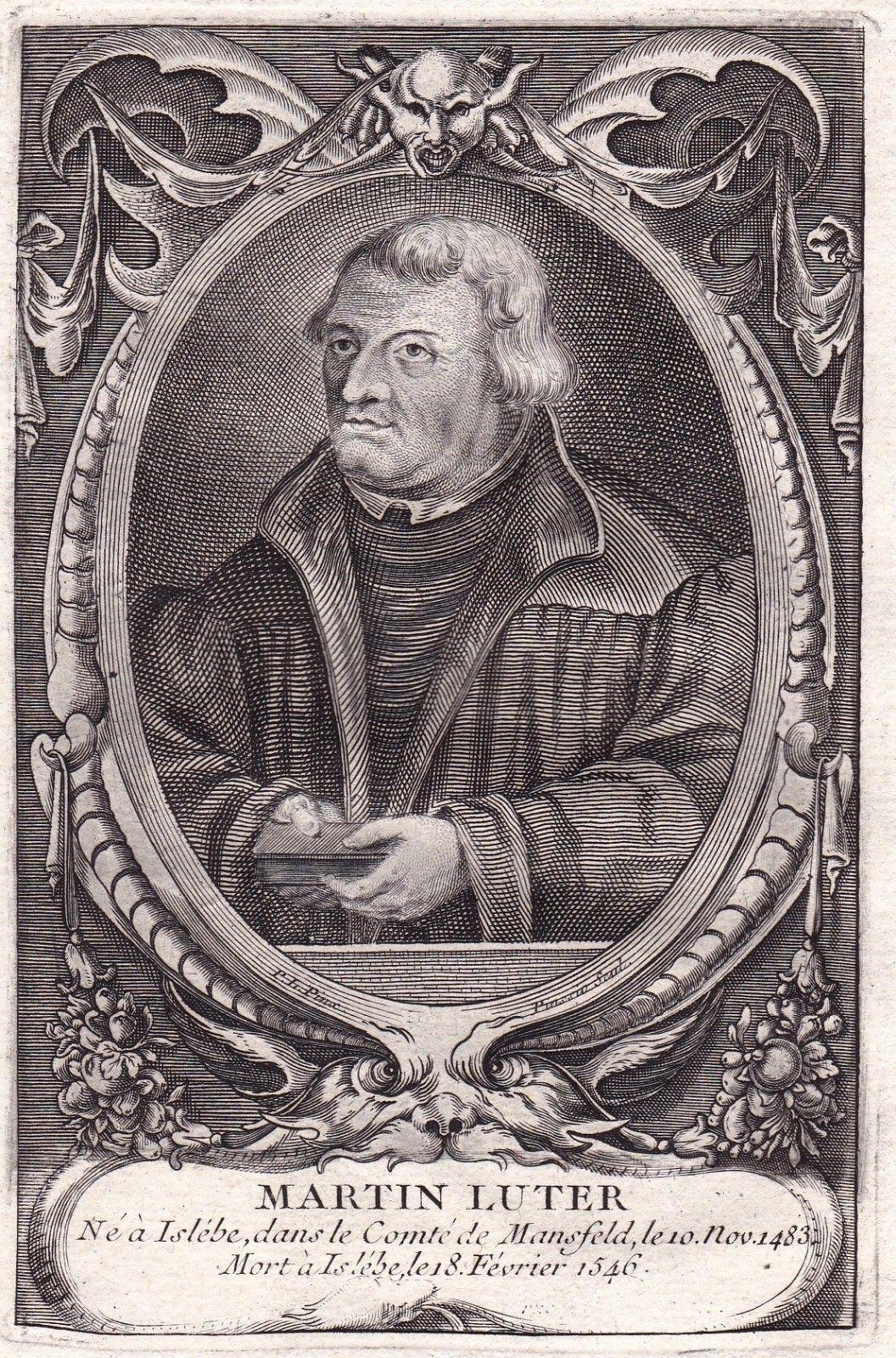 Details Sur Portrait Xviiie Martin Luther Protestant