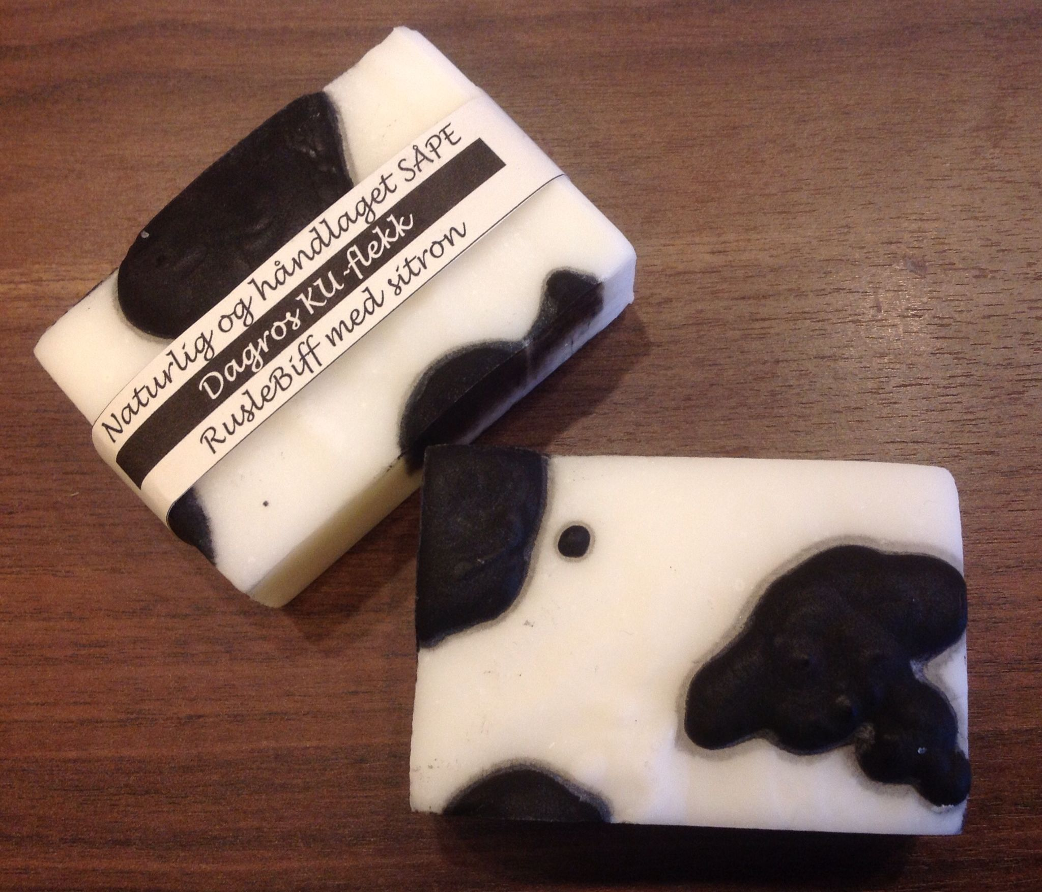 Soap with cow spots