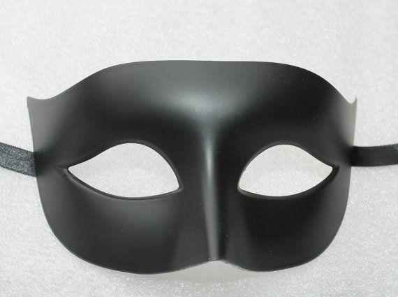 6e88873f478a Matt Black Mens Masquerade Mask in 2019   THEME WEDDING   Mens ...