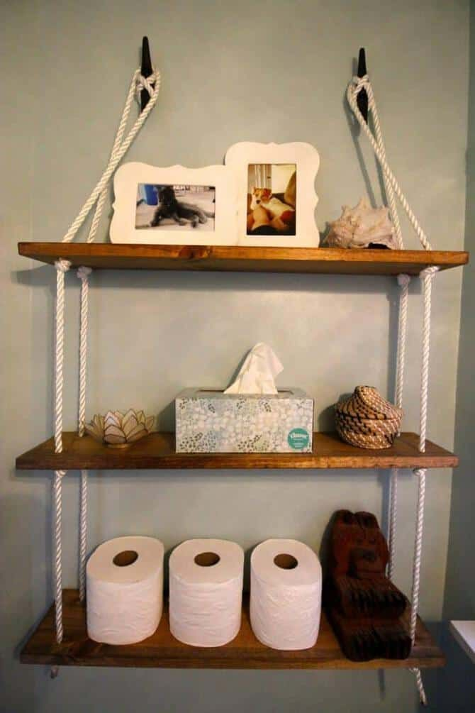 Photo of DIY Nautical Rope Shelving Tutorial for the $100 Room Challenge