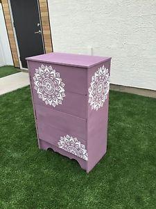 Refinished Purple Chalk Paint Dresser Saskatoon Saskatchewan Image