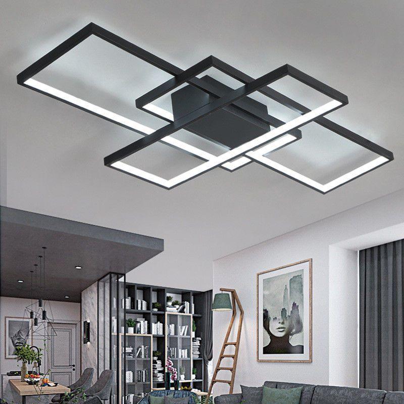 Modern Style Acrylic Led Ceiling Light Square Living Room Lighting