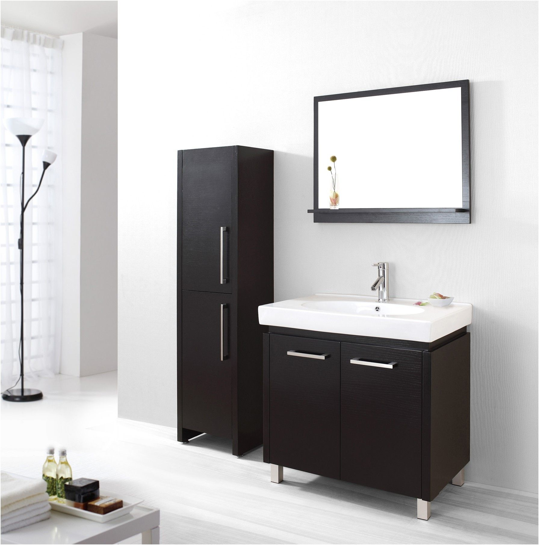 bathroom side cabinets. Bathroom Cabinets Front Espresso Wall Cabinet From Side